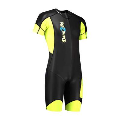 DARE2TRI - SWIM&RUN GO - Tritraje hombre black/yellow