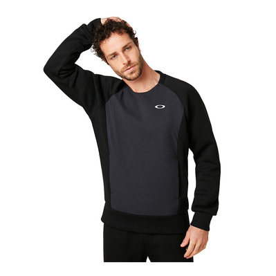 OAKLEY - ENHANCE QD FLEECE CREW 9.7 - Sweat Homme blackout