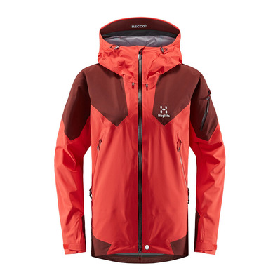 HAGLOFS - ROC SPIRE - Chaqueta mujer hibiscus red/maroon red