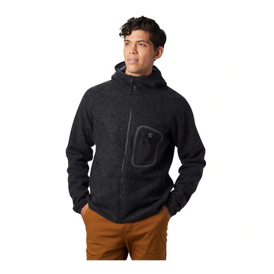 MOUNTAIN HARDWEAR - HATCHER ZIP HOODY - Sweat Homme black