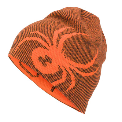 SPYDER - REVERSIBLE BUG - Bonnet réversible Junior bright orange