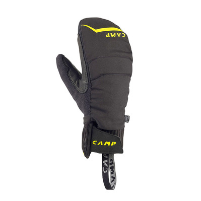 CAMP - HOT DRY - Mittens - black/yellow