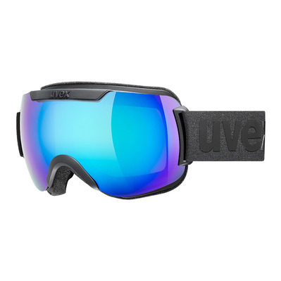 UVEX - DOWNHILL 2000 CV - Masque ski black mat/mirror blue radar