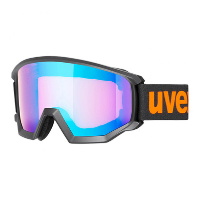 UVEX - ATHLETIC CV - Masque ski black mat/mirror blue hco