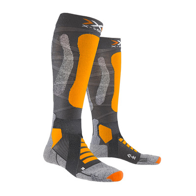 X-SOCKS - SKI TOURING V4.0 - Chaussettes anthracite/or