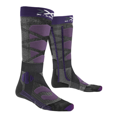 X-SOCKS - CONTROL 4.0 - Ski Socks - Femme black/purple