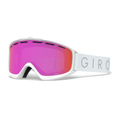 GIRO - INDEX - Masque ski Femme white core light amber pink