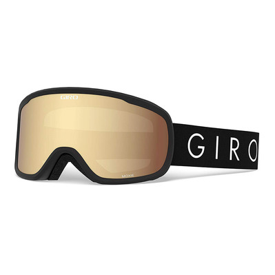 GIRO - MOXIE - Masque ski Femme black core light amber gold