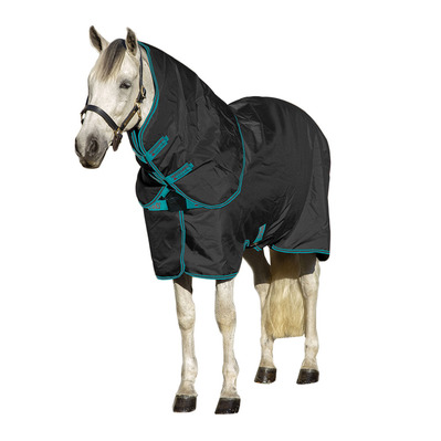 HORSEWARE - Amigo Stable Rug lite w/disc Unisexe Black/Teal & Dark Cherry