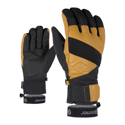 ZIENER - GIX AS AW - Gants ski Homme black hb/tan