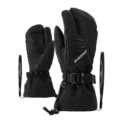 ZIENER - GOFRIEDER AS AW LOBSTER - Guantes de esquí hombre black