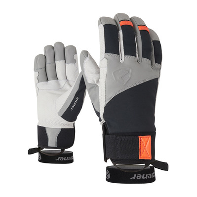 ZIENER - GAVANUS AS PR - Gants black/new orange