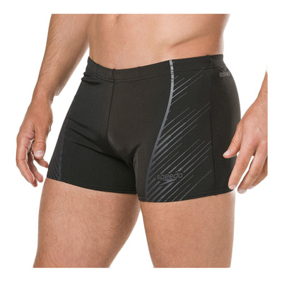 SPEEDO - SPORT PANEL - Swimming Trunks - Men's - black/grey
