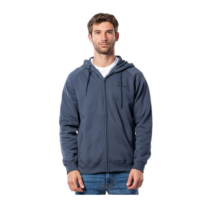 RIP CURL - SURF CO. HOODED ZIP THROUGH FL Homme MIDNIGHT NAVY