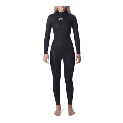 RIP CURL - OMEGA BACK ZIP - Combinaison 5/3mm Femme black