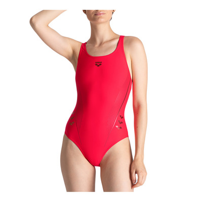 ARENA - W CHAMELEON V BACK ONE PIECE Femme FLUO RED-SHARK