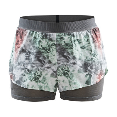 CRAFT - RACING VENT - Short 2 en 1 Femme multi/neo