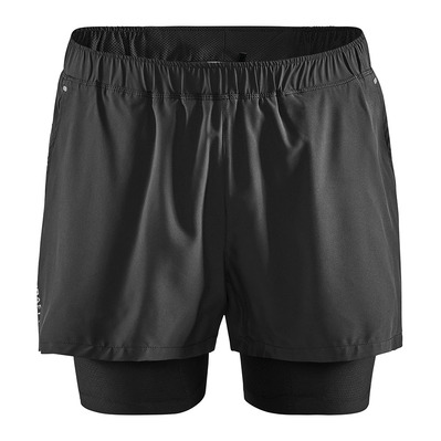 CRAFT - ESSENCE ADV STRETCH - Short 2 en 1 Homme noir