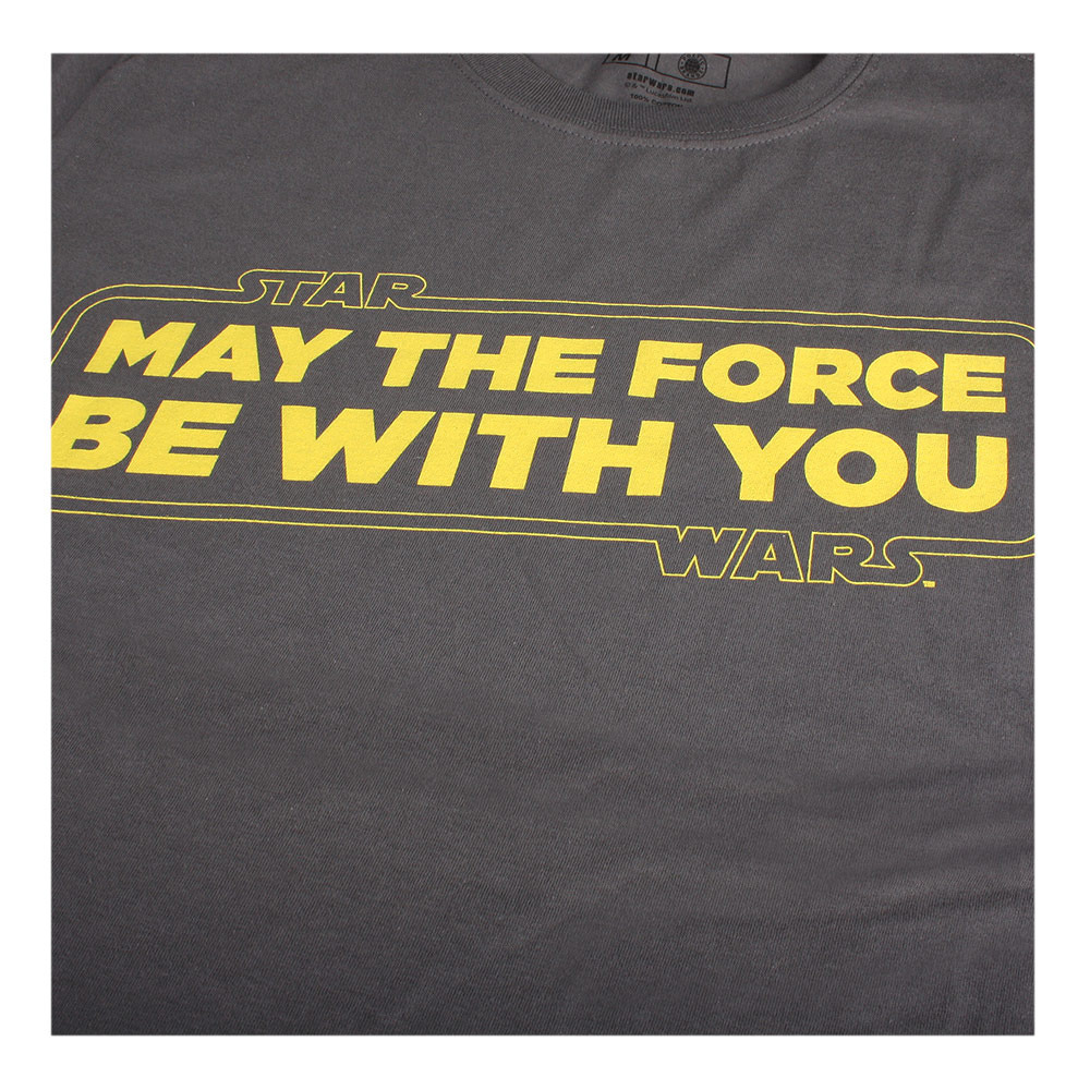 Star Wars Force Slogan Camiseta para Hombre