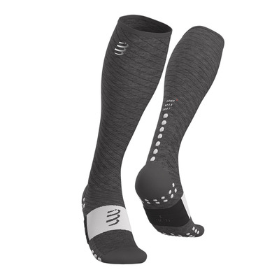 COMPRESSPORT - Full Socks Recovery Unisexe GREY MELANGE