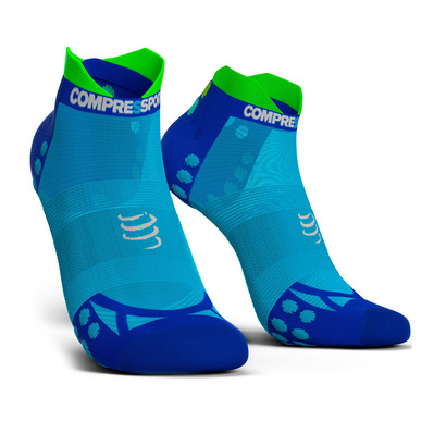 COMPRESSPORT - PRO RACING V3.0 ULTRALIGHT RUN LOW - Socks - fluo blue