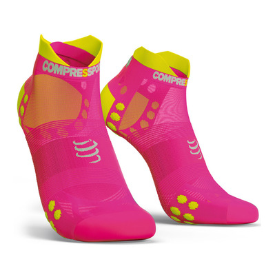 COMPRESSPORT - PRO RACING V3.0 ULTRALIGHT RUN LOW - Chaussettes Femme fluo pink