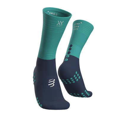 COMPRESSPORT - Mid Compression Socks Unisexe BLUE/ICE BLUE