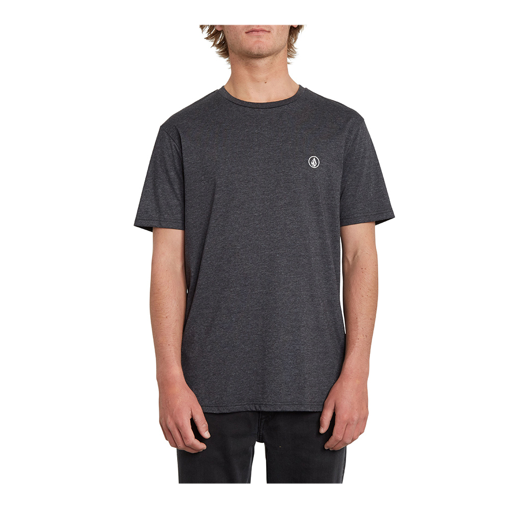 VOLCOM - Volcom CIRCLE BLANKS HTH - Tee-shirt Homme heather black