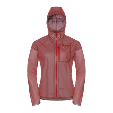 ODLO - Jacket ZEROWEIGHT DUAL DRY WATERPROOF mujer hot coral