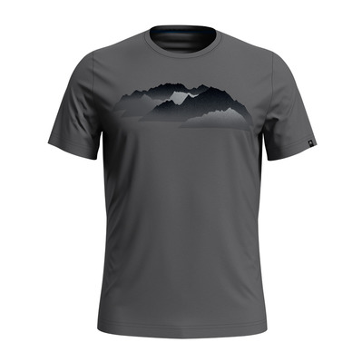 ODLO - NIKKO PRINT - Tee-shirt Homme steel grey/mountain print