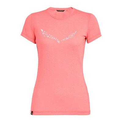 SALEWA - SOLIDLOGO - T-Shirt - Women's -shell pink melange