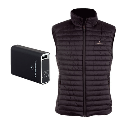 THERM-IC - POWERVEST HEAT - wärmende Winterjacke - Männer - black + Akku 5200mAh