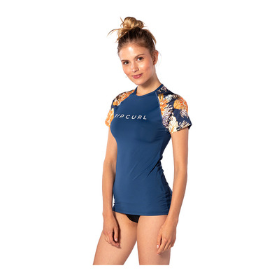 RIP CURL - Ripcurl SUNSETTER RELAXED - Rashguard mujer navy
