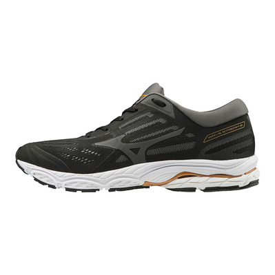 MIZUNO - WAVE STREAM 2 - Chaussures running Homme black/monument/shadow