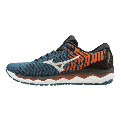 MIZUNO - WAVE SKY WAVEKNIT 3 - Chaussures running Homme moroccan blue/white/tango