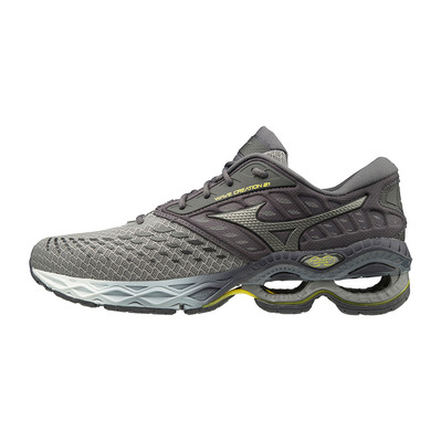 MIZUNO - WAVE CREATION 21 - Chaussures running Homme grey/silver/shade