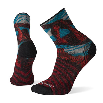 SMARTWOOL - PHD OUTDOOR LIGHT ARCHES PRINT - Chaussettes mc white