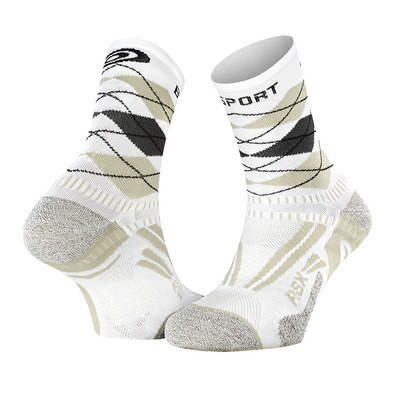 BV SPORT - STX EVO COLLECTOR - Calcetines blanco/gris
