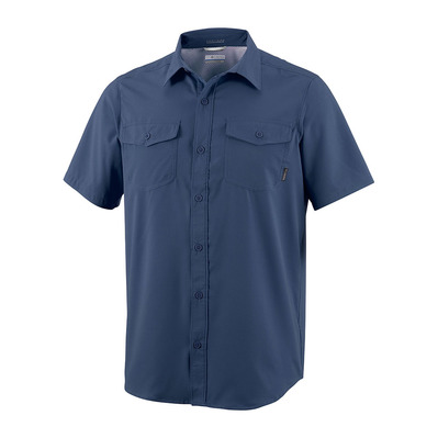 COLUMBIA - Utilizer II Solid Short Sleeve Shirt Homme Collegiate Navy
