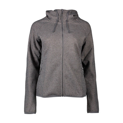 COLUMBIA - Pacific Point Full Zip Hoodie Femme City Grey Heather, Peach Cloud