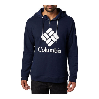 COLUMBIA - COLUMBIA LODGE FRENCH TERRY - Sweat Homme collegiate navy/white