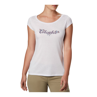 COLUMBIA - Shady Grove SS Tee Femme White, Fun Performance