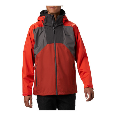 COLUMBIA - Rain Scape Jacket Homme City Grey, Wildfire, Carnelian Red