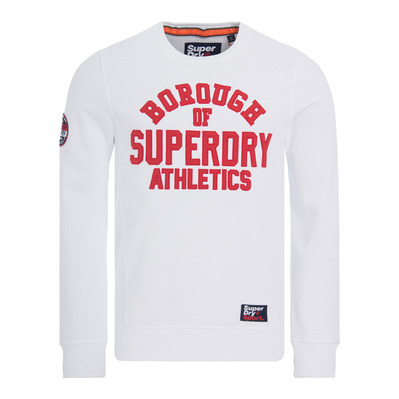 ACADEMY RIBBED - Sweat Homme academy white