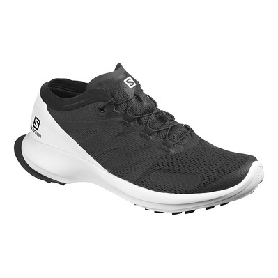SALOMON - SENSE FLOW - Chaussures trail Homme black/white/black