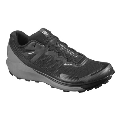 SALOMON - SENSE RIDE 3 GTX INVIS. FIT - Chaussures trail Homme bk/qui