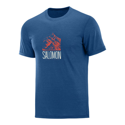 SALOMON - EXPLORE GRAPHIC - Camiseta hombre poseidon