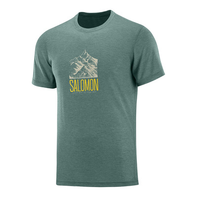 SALOMON - T Shirt EXPLORE GRAPHIC SS TEE M Balsam Homme BALSAM GREEN