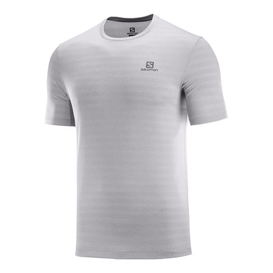 SALOMON - T Shirt XA TEE M Alloy/Heather Homme ALLOY/HEATHER