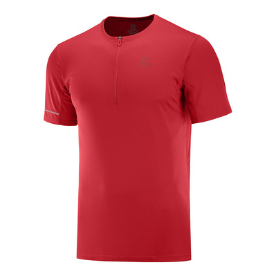 SALOMON - AGILE HZ - Camiseta hombre goji berry/red dahlia
